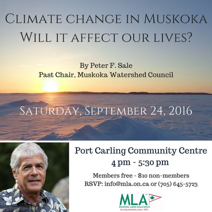 Did you miss Peter Sale's seminar on Climate Change?